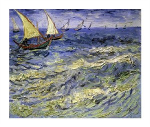 "Vincent Van Gogh Fine Art Open Edition Giclée:""Seascape at Saintes-Maries-De-La-Mer"""