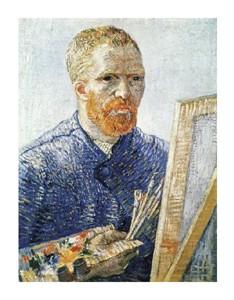 "Vincent Van Gogh Fine Art Open Edition Giclée:""Self Portrait in Front of Easel"""