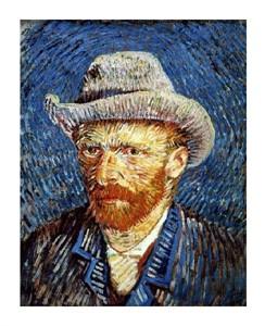 "Vincent Van Gogh Fine Art Open Edition Giclée:""Self Portrait in Grey Felt Hat"""