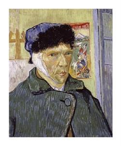 """Vincent Van Gogh Fine Art Open Edition Giclée:""""Self Portrait with Bandaged Ear"""""""