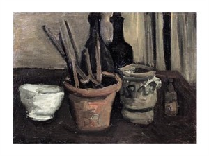 """Vincent Van Gogh Fine Art Open Edition Giclée:""""Still Life with Paintbrushes in a Pot"""""""