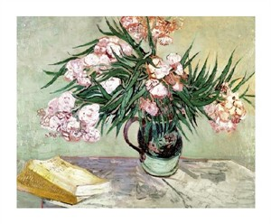 """Vincent Van Gogh Fine Art Open Edition Giclée:""""Still Life: Vase with Oleanders and Books"""""""