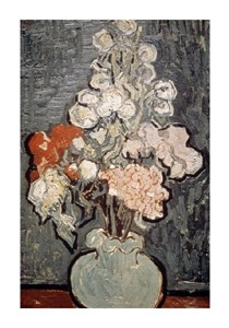 "Vincent Van Gogh Fine Art Open Edition Giclée:""Still Life: Vase with Rose-Mallows"""