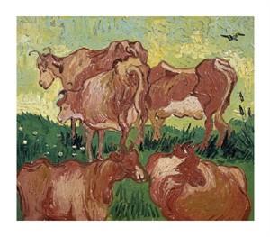 """Vincent Van Gogh Fine Art Open Edition Giclée:""""The Cows"""""""