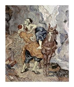 """Vincent Van Gogh Fine Art Open Edition Giclée:""""The Good Samaritan (After Delacroix)"""""""