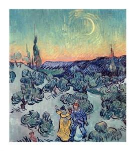 """Vincent Van Gogh Fine Art Open Edition Giclée:""""The Stroll, Evening"""""""