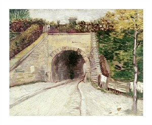 """Vincent Van Gogh Fine Art Open Edition Giclée:""""Tunnel Through Hillside"""""""