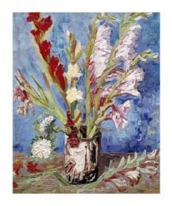 "Vincent Van Gogh Fine Art Open Edition Giclée:""Vase with Gladioli"""