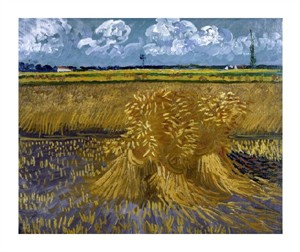 """Vincent Van Gogh Fine Art Open Edition Giclée:""""Wheat Field with Sheaves"""""""