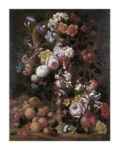 "Nicolas van Veerendael Fine Art Open Edition Giclée:""Roses, Dahlias, Convolvulus and Other Flowers"""