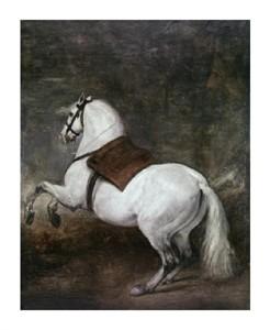 """Diego Velazquez Fine Art Open Edition Giclée:""""A White Horse"""""""