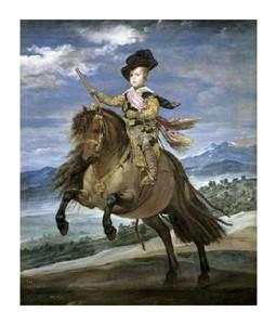 "Diego Velazquez Fine Art Open Edition Giclée:""Prince Carlos Balthasar on Horseback"""