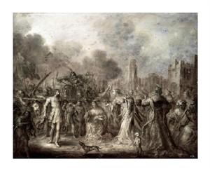 "Adriaen Van De Venne Fine Art Open Edition Giclée:""David's Triumph"""