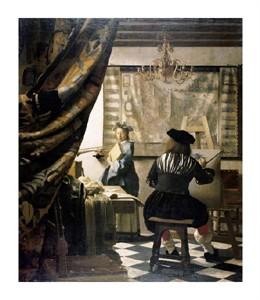 "Johannes Vermeer Fine Art Open Edition Giclée:""The Artist's Studio"""