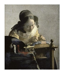 "Johannes Vermeer Fine Art Open Edition Giclée:""The Lacemaker"""