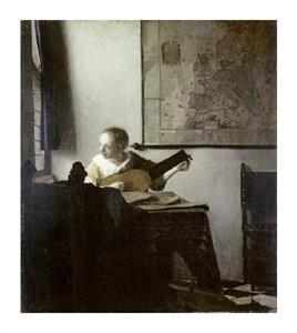 "Johannes Vermeer Fine Art Open Edition Giclée:""The Lute Player"""