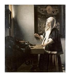 """Johannes Vermeer Fine Art Open Edition Giclée:""""Woman Holding a Balance"""""""