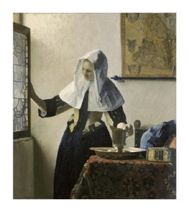 "Johannes Vermeer Fine Art Open Edition Giclée:""Woman with a Water Jug"""