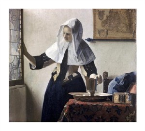 "Johannes Vermeer Fine Art Open Edition Giclée:""Woman with a Water Jug - Detail"""
