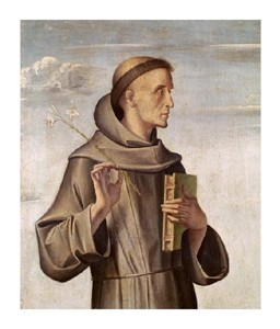 "Antonio Vivarini Fine Art Open Edition Giclée:""Saint Anthony"""