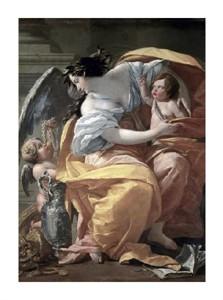 "Simon Vouet Fine Art Open Edition Giclée:""Allegory of Wealthlate 17th C."""