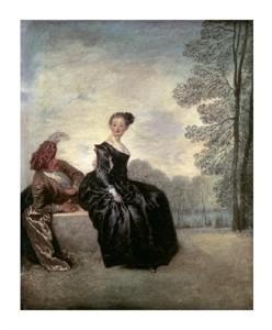 "Jean-Antoine Watteau Fine Art Open Edition Giclée:""Launisches Madchen"""