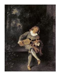 """Jean-Antoine Watteau Fine Art Open Edition Giclée:""""Mezzetin"""""""