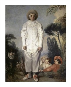 "Jean-Antoine Watteau Fine Art Open Edition Giclée:""Pierrot, Also Known as Gilles"""