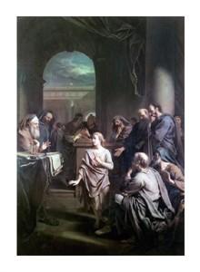 """Adriaen Van Der Werff Fine Art Open Edition Giclée:""""Boy Jesus in Temple"""""""
