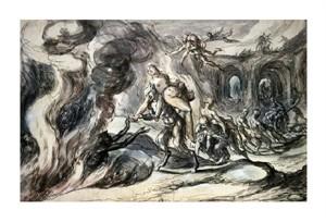 "Hermann Weyer Fine Art Open Edition Giclée:""Eurydice in Hell"""