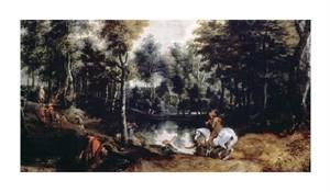 "Jan Wildens Fine Art Open Edition Giclée:""Forest Landscape"""