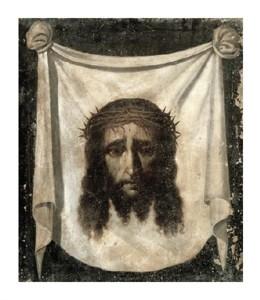 """Francisco De Zurbaran Fine Art Open Edition Giclée:""""Holy Face (La Santa Faz)"""""""