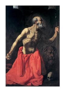 "Francisco De Zurbaran Fine Art Open Edition Giclée:""Saint Jerome"""
