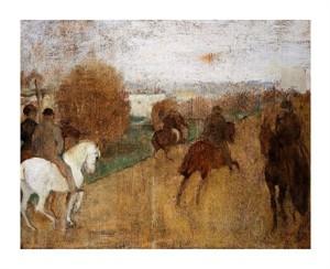 """Edgar Degas Fine Art Open Edition Giclée:""""Cavaliers Sur Une Route"""""""