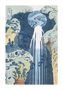 "Hokusai Fine Art Open Edition Giclée:""Amida Waterfall on the Kiso Highway"""
