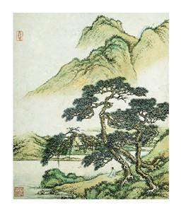 "Cai Jia Fine Art Open Edition Giclée:""Landscape: Summer"""