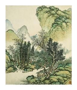 "Cai Jia Fine Art Open Edition Giclée:""Landscape I"""