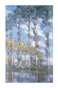 "Claude Monet Fine Art Open Edition Giclée:""Poplars (1881)"""