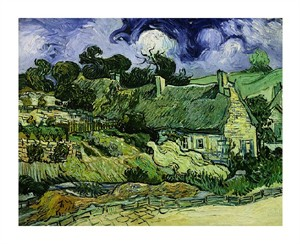 """Vincent Van Gogh Fine Art Open Edition Giclée:""""House with Straw Ceiling, Cordeville"""""""