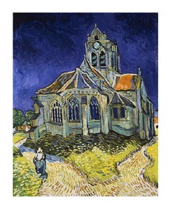 "Vincent Van Gogh Fine Art Open Edition Giclée:""The Church at Auvers"""