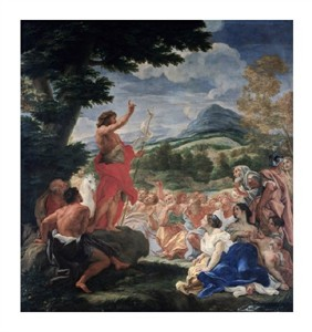 "Baciccio Fine Art Open Edition Giclée:""The Sermon of St. John the Baptist"""