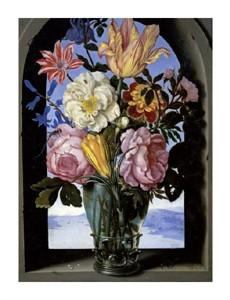 """Ambrosius Bosschaert Fine Art Open Edition Giclée:""""Bouquet of Flowers in an Arch"""""""