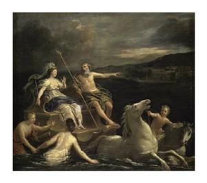 """Bon Boullogne Fine Art Open Edition Giclée:""""Triumph of Neptune Bon Boullogne"""""""