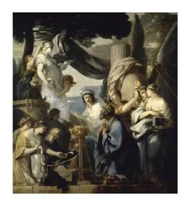 "Sebastien Bourdon Fine Art Open Edition Giclée:""Solomon's Idolatry"""