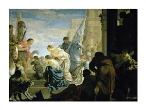 "Sebastien Bourdon Fine Art Open Edition Giclée:""The Meeting of Antony and Cleopatra"""