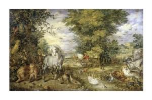 """Jan Bruegel Fine Art Open Edition Giclée:""""The Animals Approaching the Ark"""""""