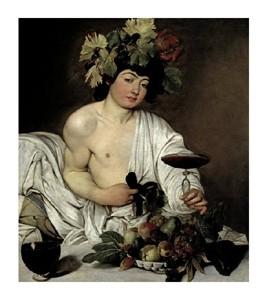 """Caravaggio Fine Art Open Edition Giclée:""""Bacchus"""""""