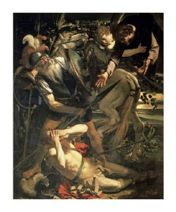 "Caravaggio Fine Art Open Edition Giclée:""Conversion of St. Paul"""