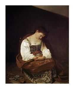 "Caravaggio Fine Art Open Edition Giclée:""The Repentant Magdalene"""