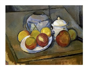 "Paul Cezanne Fine Art Open Edition Gicl�e:""Flawed Vase, Sugar Bowl and Apples"""